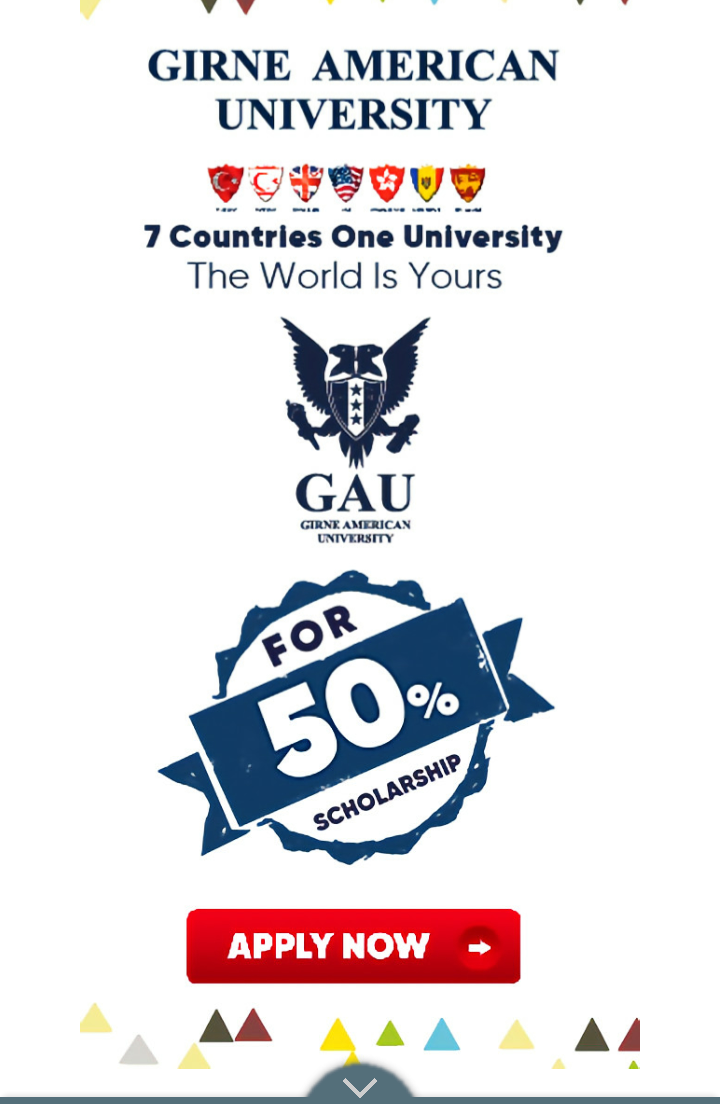 Apply: Girine American University Offers 50% scholarship