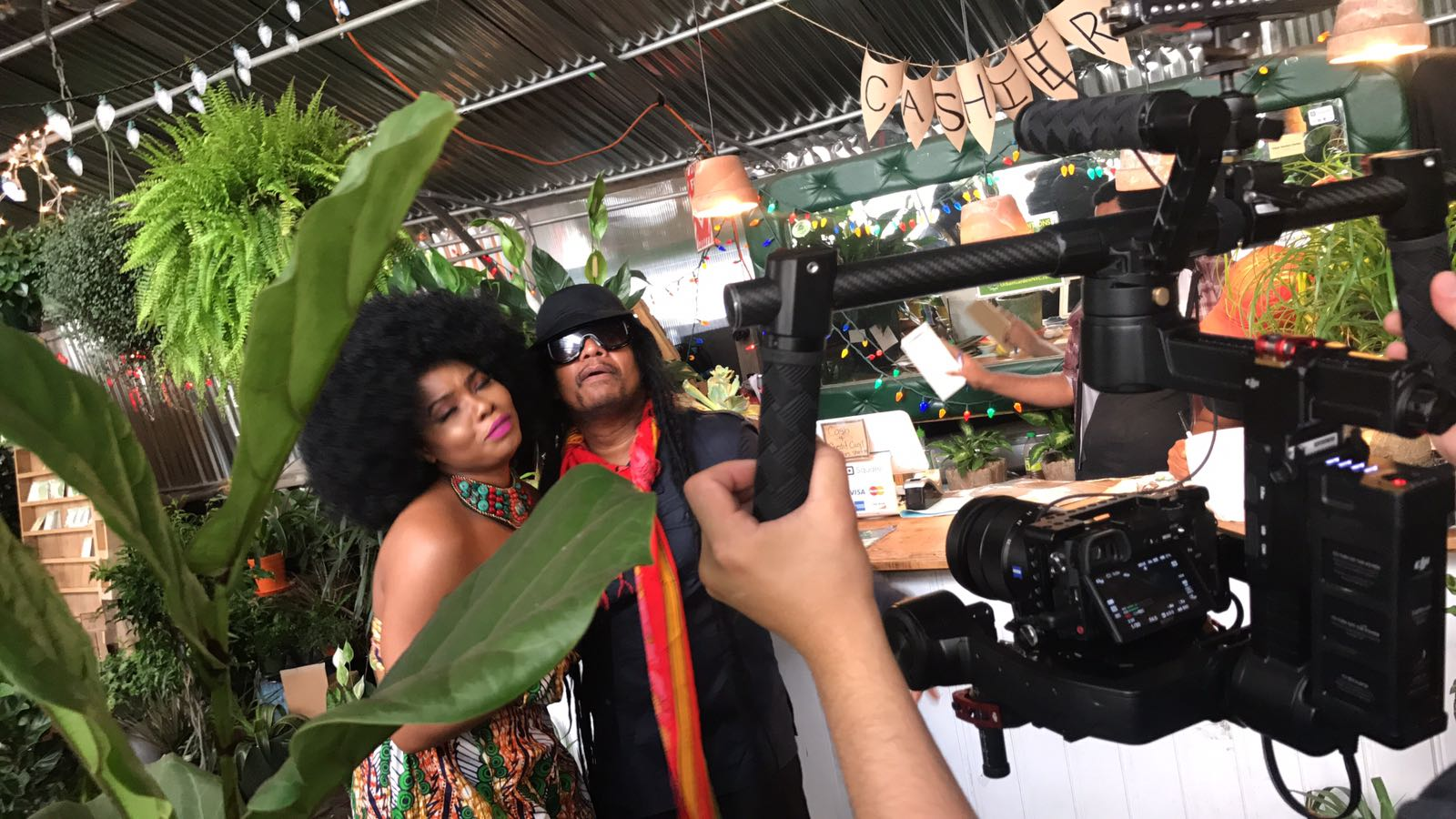 """See BTS Photos of Yemi Alade and Maxi Priest for New Music Video """"This Woman"""""""