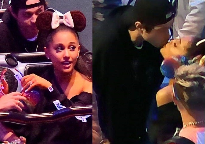 Ariana Grande Puts Engagement Ring On Display On A Night Out With Fiance, Pete Davidson (Photos)