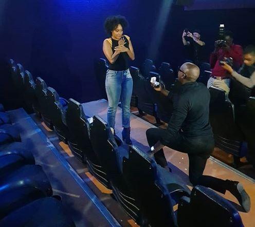 Sauti Sol's Bien Baraza proposes to Nigerian girlfriend, Chiki Onwukwe