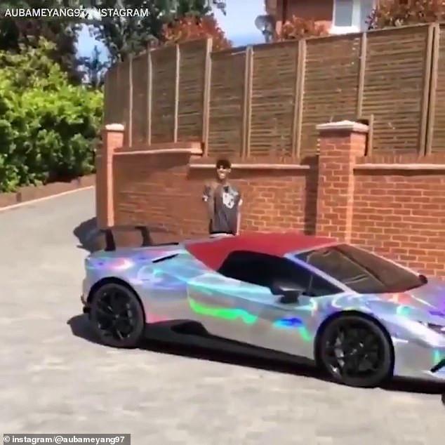 Aubameyang adds £240,000 Lamborghini Huracan to his car collection