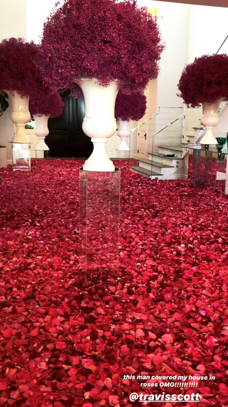 Kylie Jenner house covered in roses as she gets early birthday surprise from Travis Scott