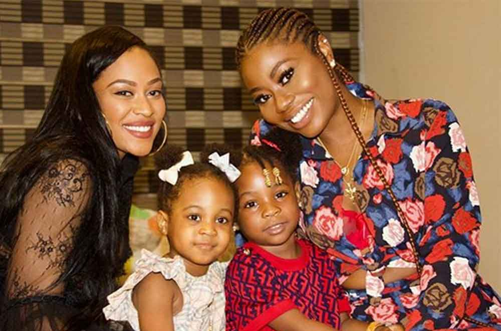 Davido's babymama with children