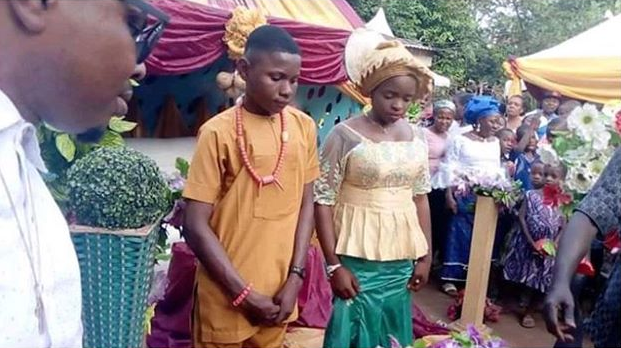 17 year old boy gets married to his 16 year old bride