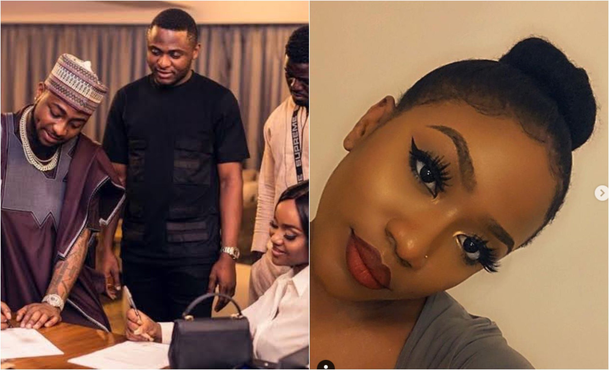 Davido, Peruzzi come for Ubi Franklin after he sent birthday wishes to Chioma's sister