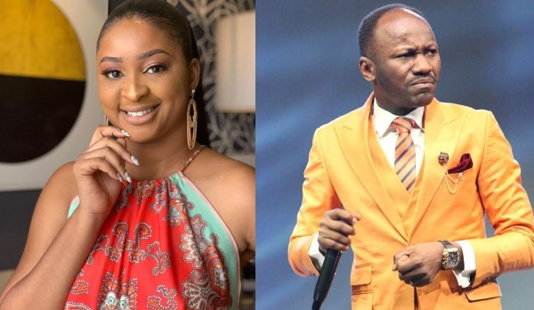 Actress, Etinosa slams Apostle Suleman over bleaching comment