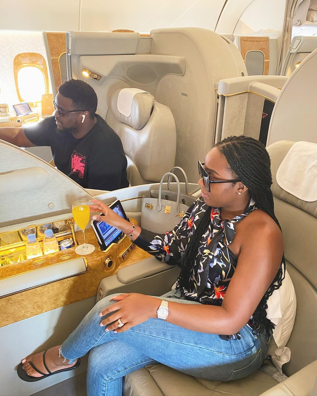 My blessings have tripled since you became my wife, Davido's brother says as he loves on his wife