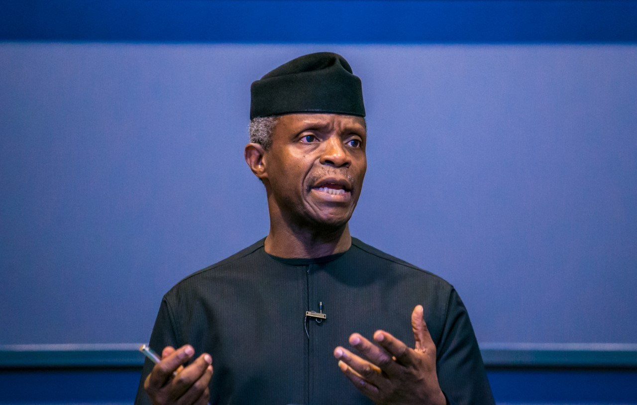 Osinbajo speaks on plans to recruit more security personnel to tackle insecurity