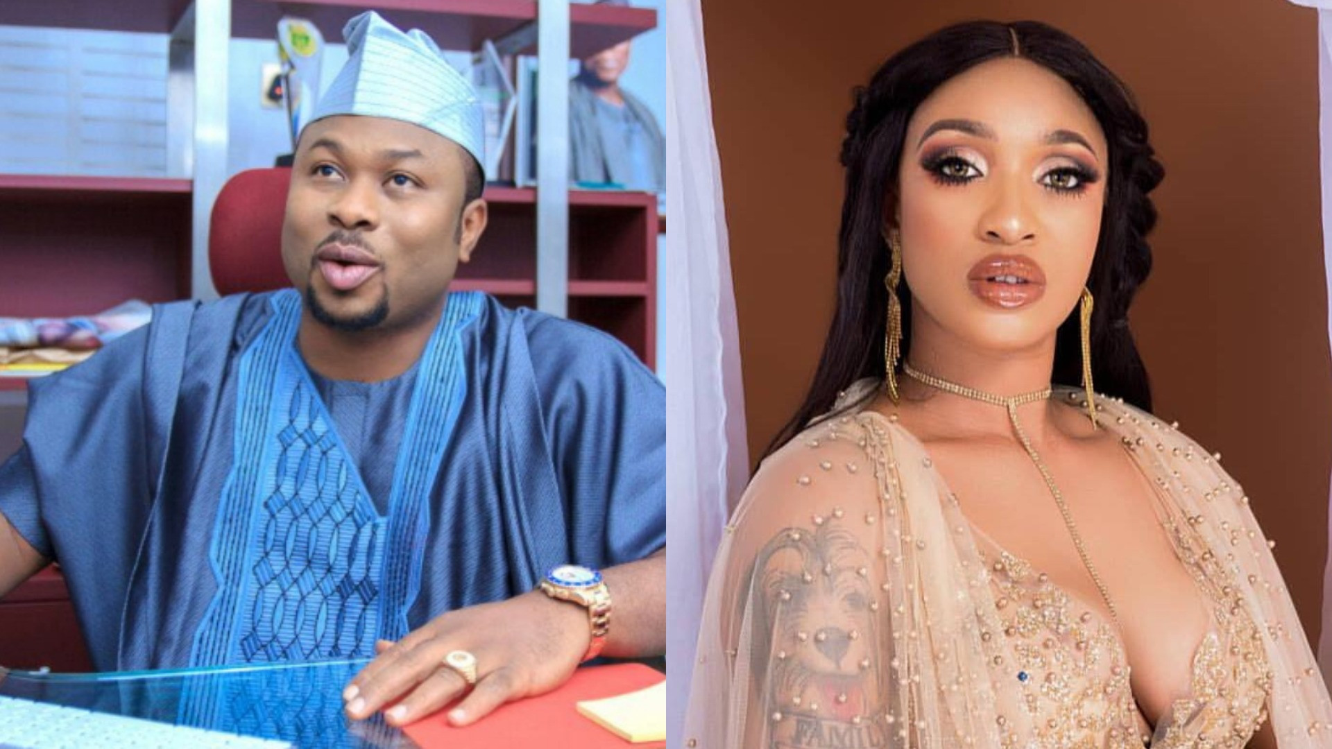 Olakunle Churchill curses Tonto Dikeh as issues of his sexual prowess come up again