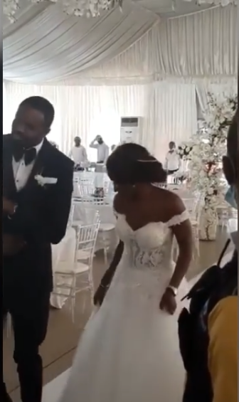 Nigerian couple dance into empty reception hall amid bad on public gatherings