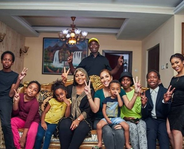 Ned Nwoko shows off his wives, children on Instagram