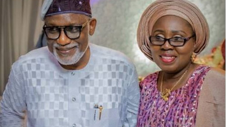 Governor Akeredolu's wife, Betty coronavirus covid-19 topnaija.ng
