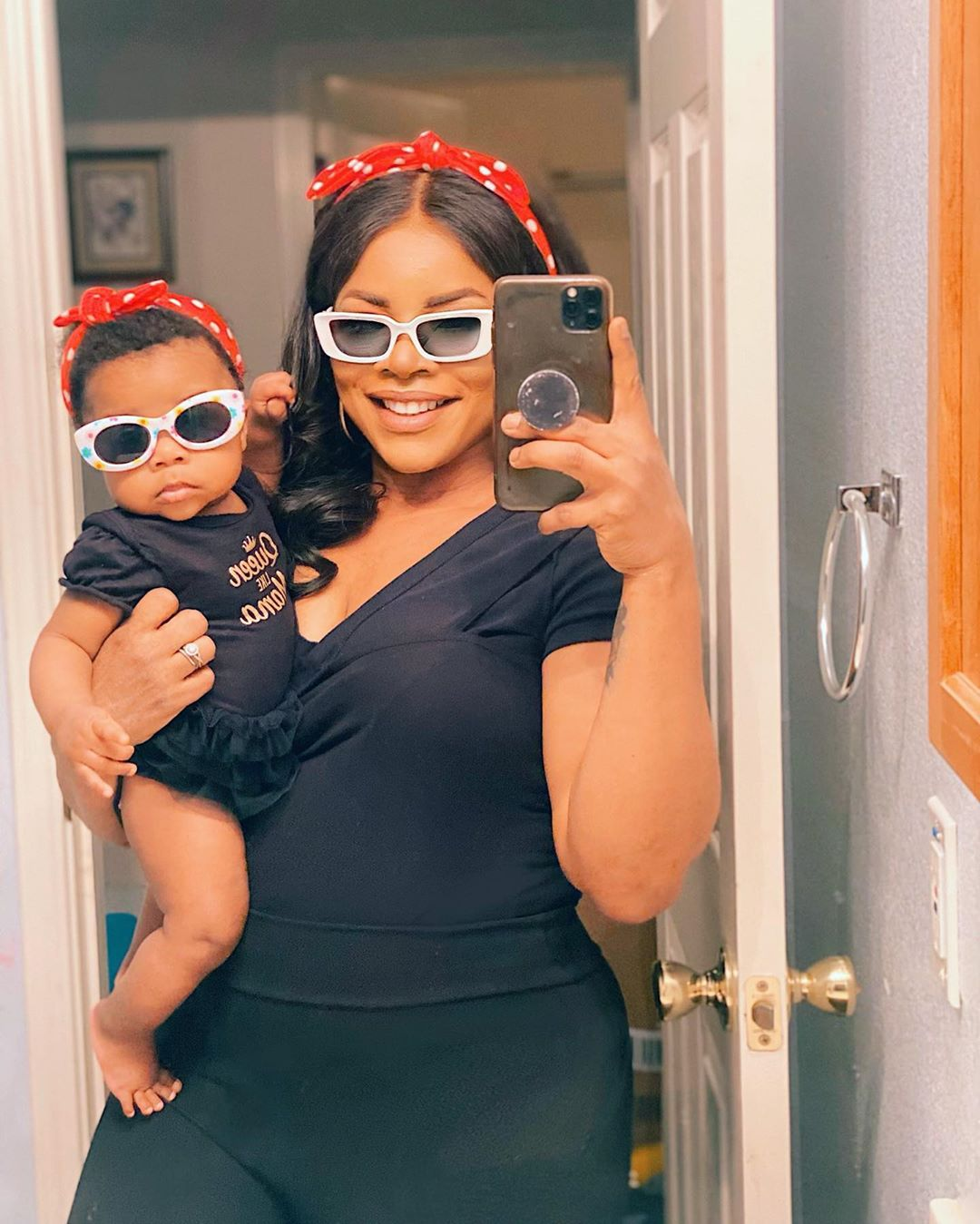 Laura Ikeji's 4-months-old daughter becomes a millionaire influencer