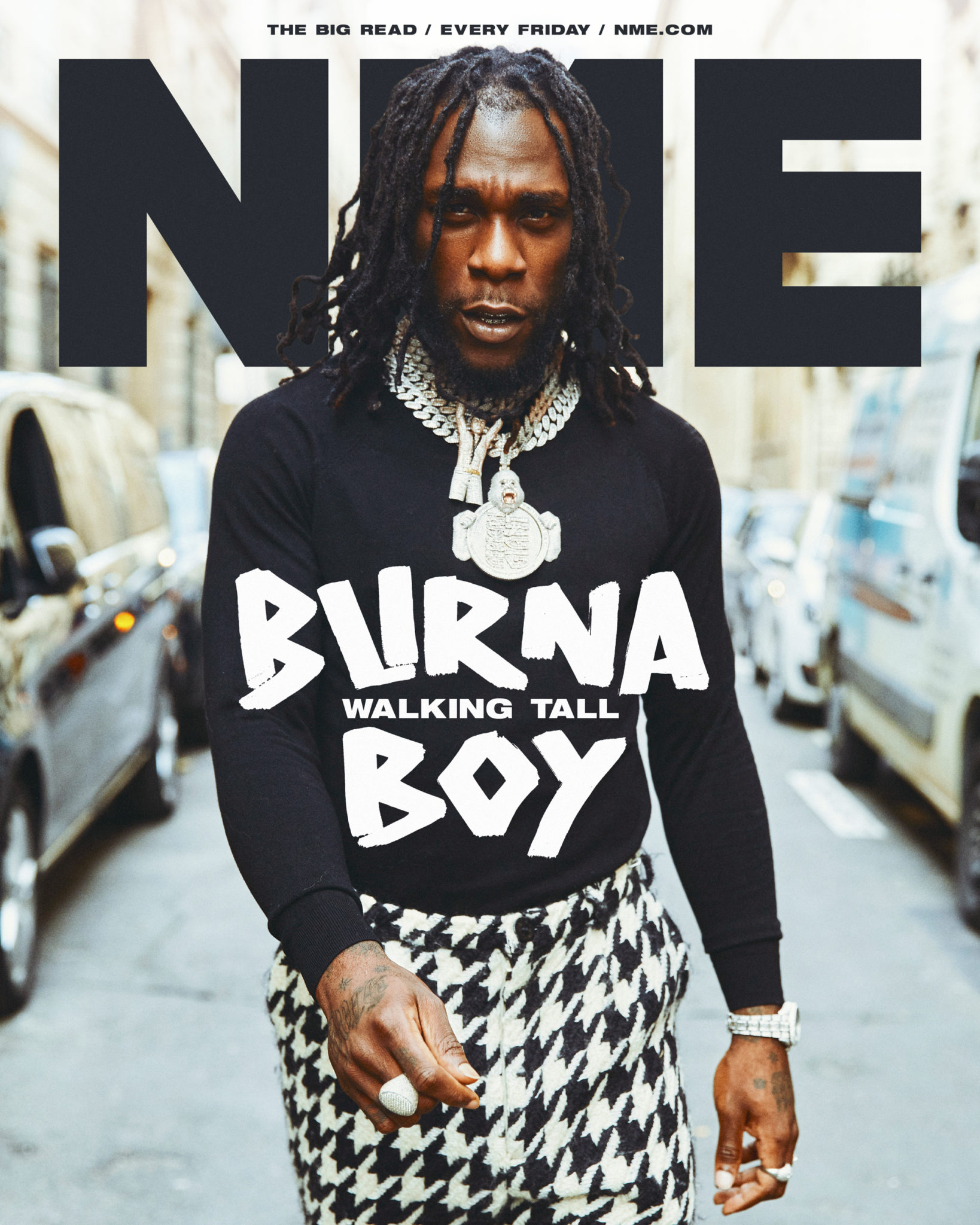 Burna Boy: Walking Tall On The Cover Of NME Magazine's August 2020 Issue