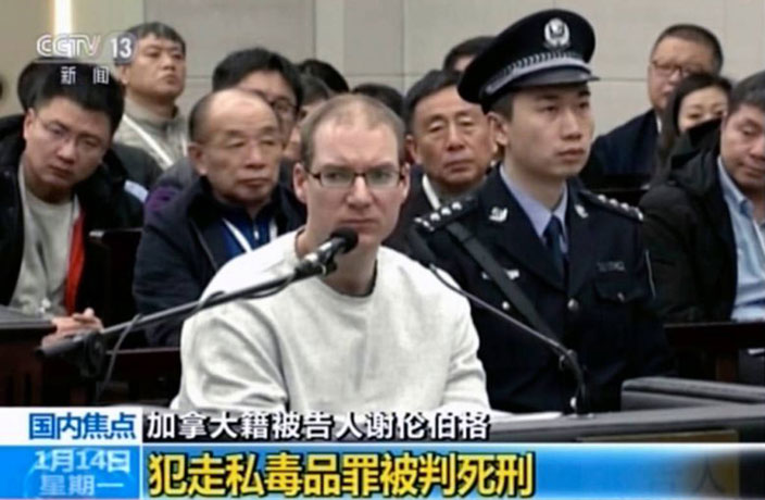 China sentence Canadian to death