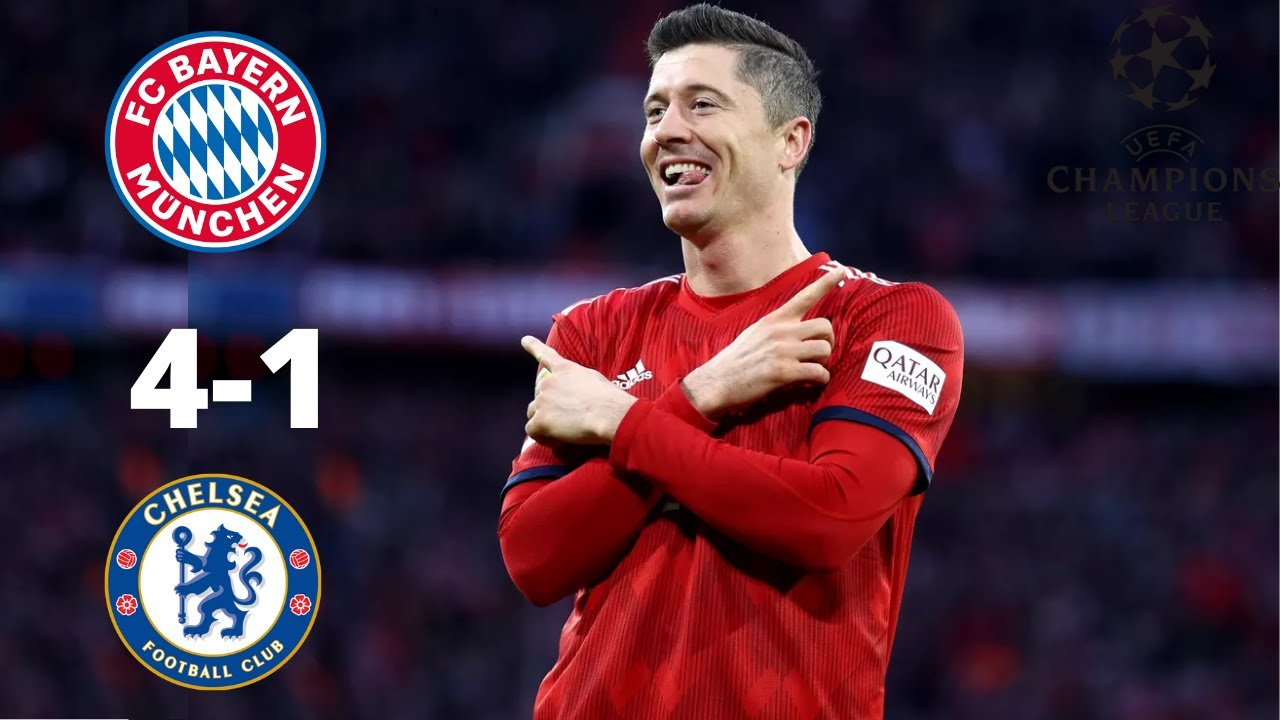 Bayern Munich 4-1 Chelsea ALL Goals & HighLights