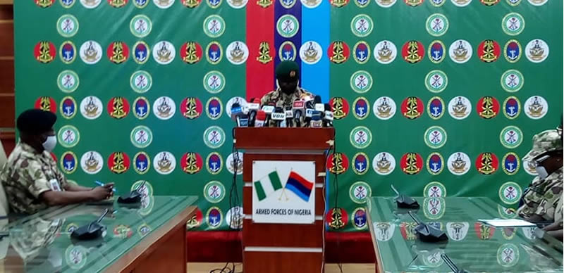 Nigeria-Army-DHQ-Army launches 'Crocodile Smile' as #EndSARS protests persistmedia-briefing
