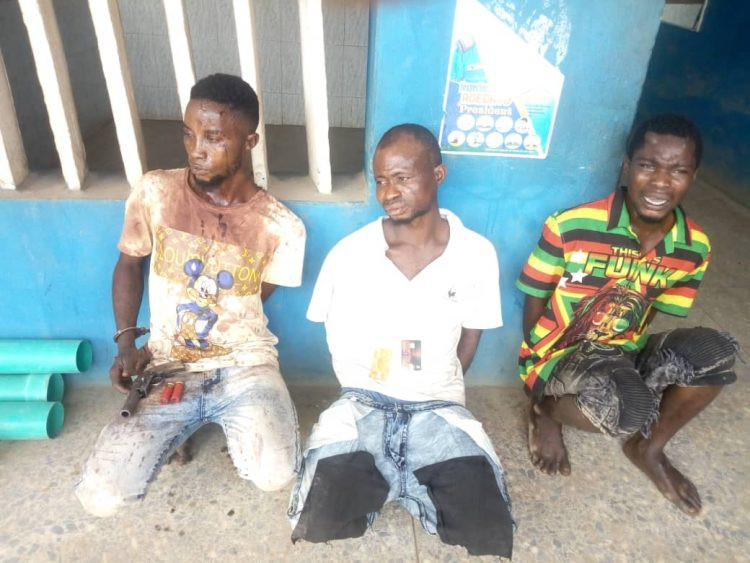 Three suspected armed robbers arrested by the Ogun State Police -TopNaija.ng