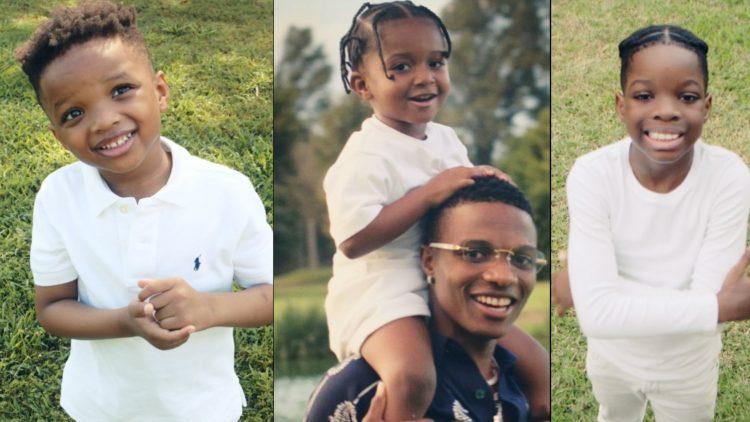 Wizkid and his children