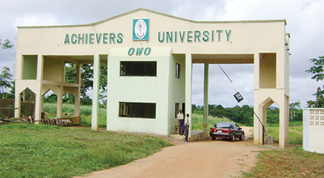 Achievers University gives automatic employment to first class students Top Naija