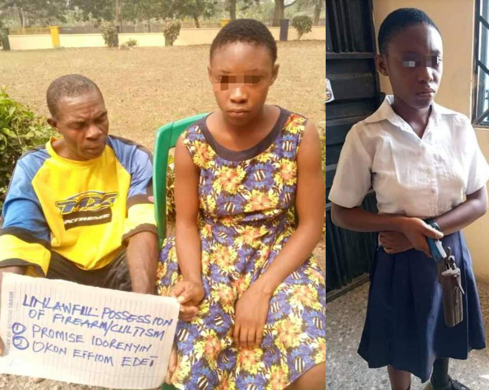 Girl who took gun to school says as she confesses to being a cult member