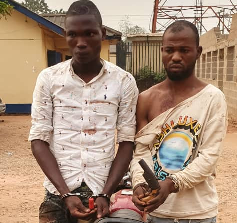 Police arrest two ex-convicts for alleged armed robbery in Ogun [PHOTO]-TopNaija.ng