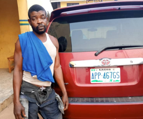 Police arrest driver while allegedly fleeing with his boss's car in Ogun [PHOTO]-TopNaija.ng