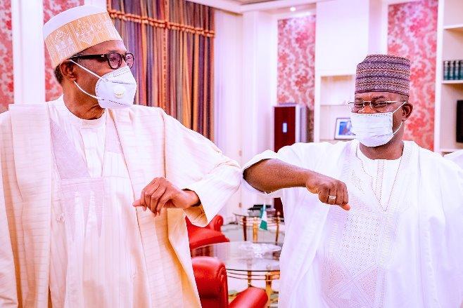 Buhari meets Yahaya Bello over food blockade to south [PHOTOS] Top Naija