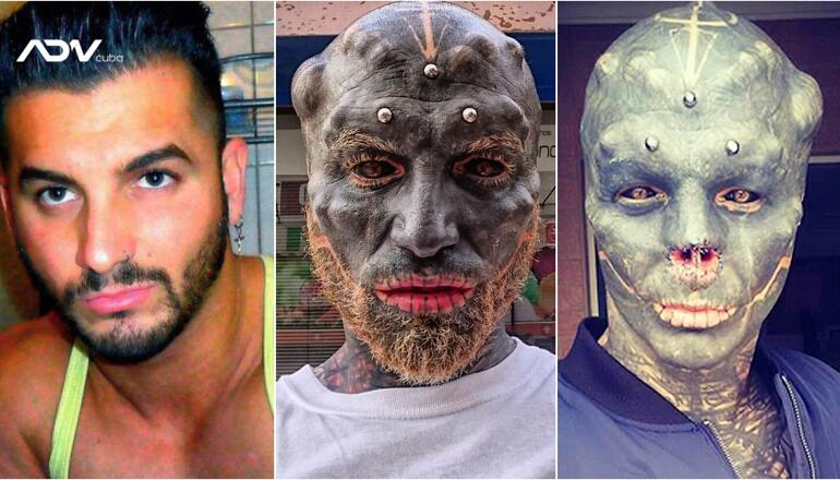 A 32-year Old Man Transforms into a Black Alien [SEE PHOTOS]