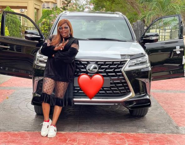 Funke Akindele Bello acquires Lexus SUV 2021 topnaija.ng