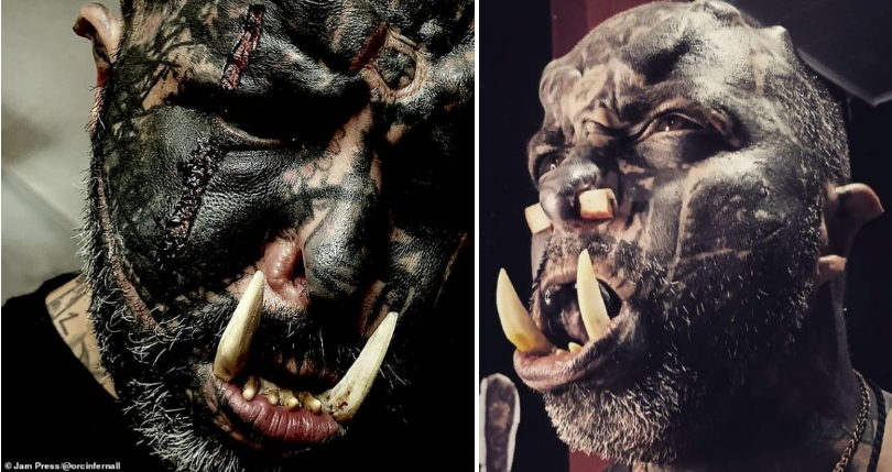 Man who transforms into a monster sets to feature in an Hollywood film [PHOTOS]
