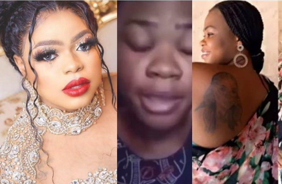 Controversial Nigerian crossdresser, Idris Okuneye is popularly known as Bobrisky has been known to receive fan love and popularity from his beloved fans by having an inking of his name on their bodies.