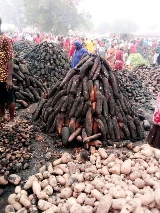 Fire razes popular yam market in Plateau state-TopNaija.ng