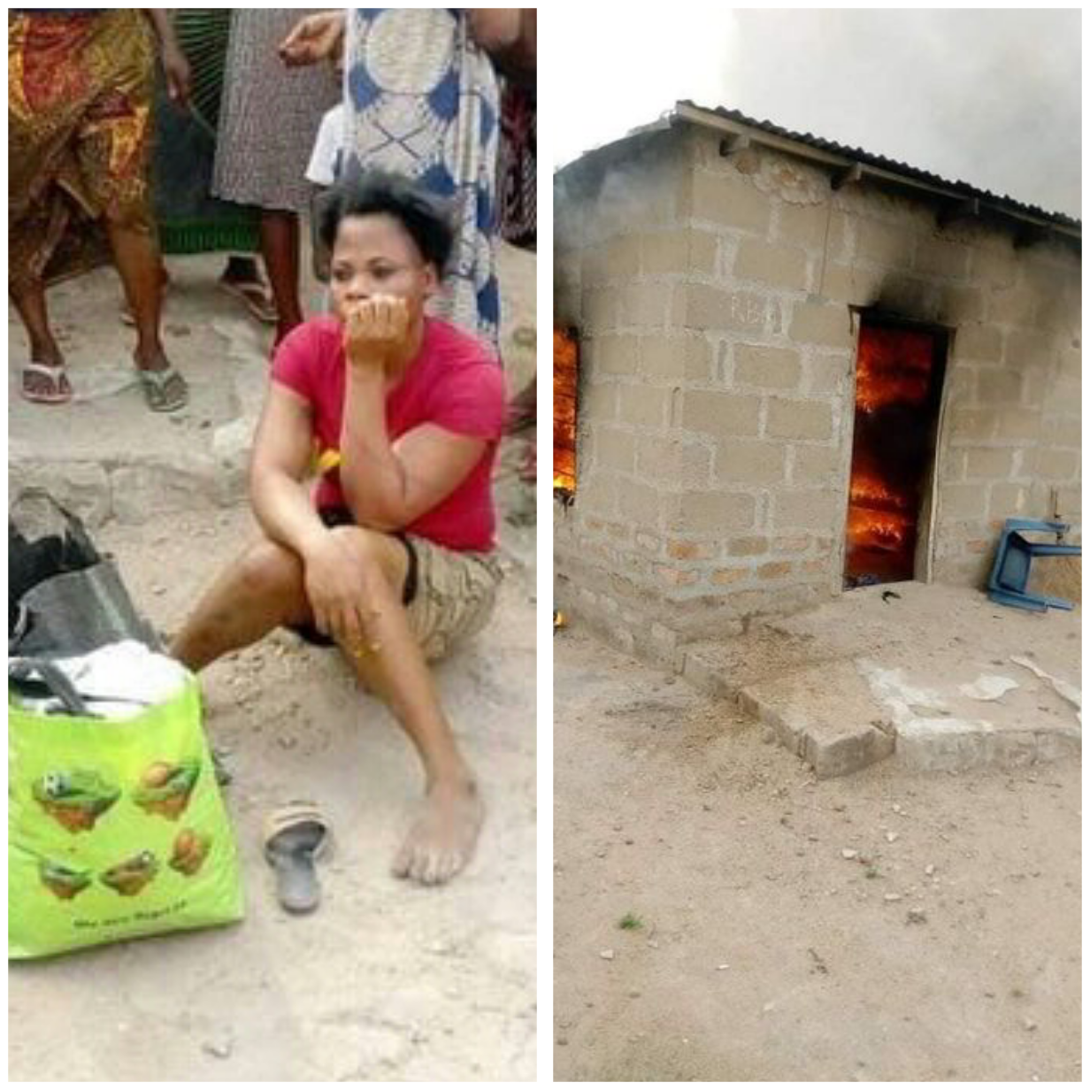 Nigerian woman sets her boyfriend's house ablaze over misunderstanding in Benue-TopNaija.ng
