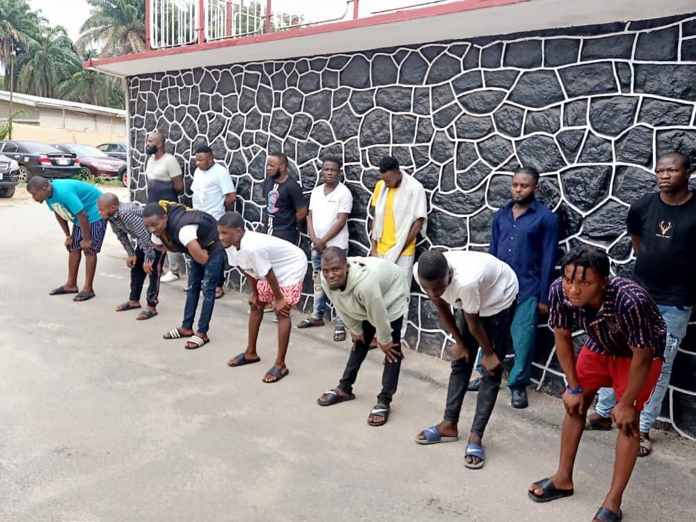 Police arrest 14 suspected internet fraudsters in Lagos [PHOTOS]-TopNaija.ng