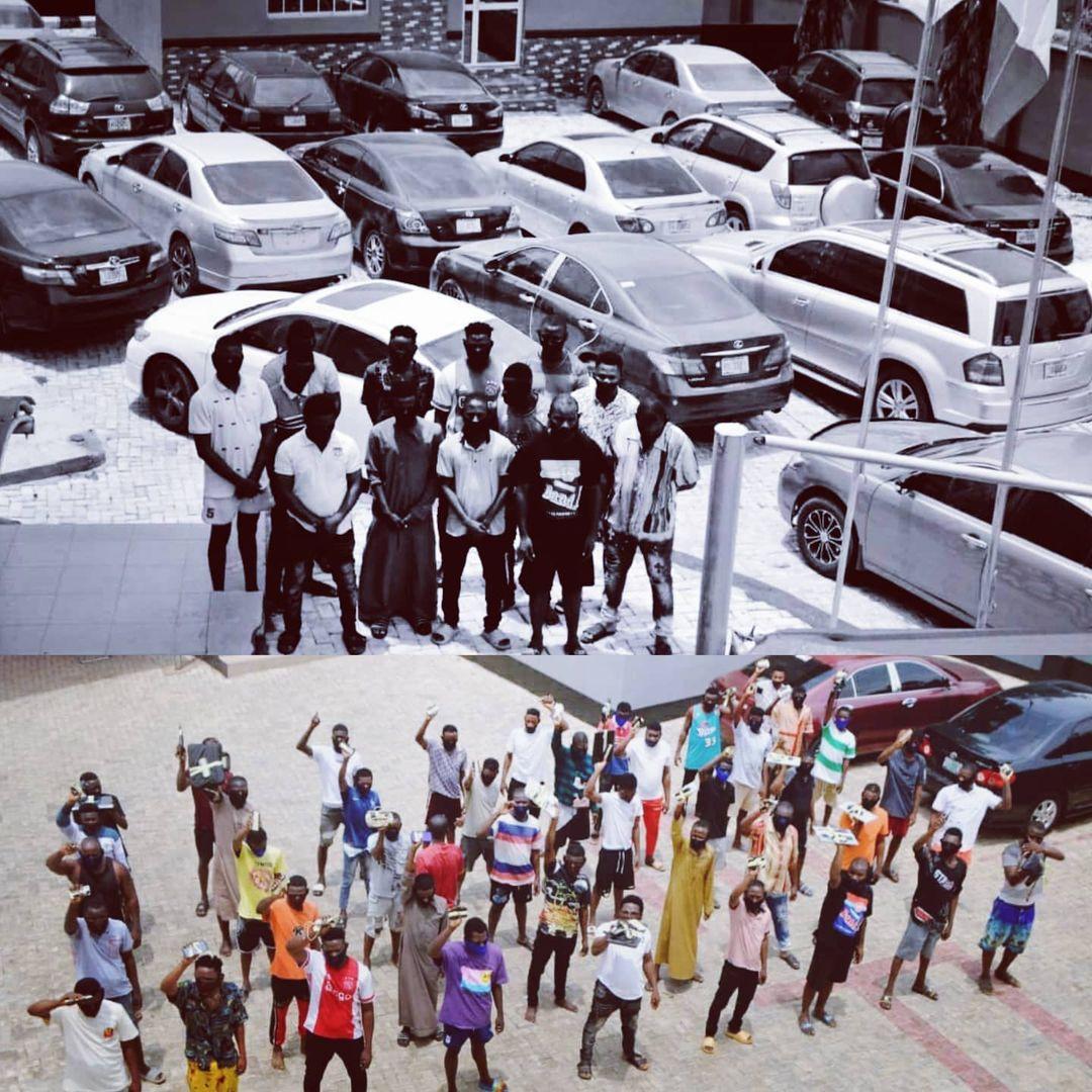 EFCC arrest 33 suspected internet fraudsters in Abeokuta [PHOTOS]-TopNaija.ng