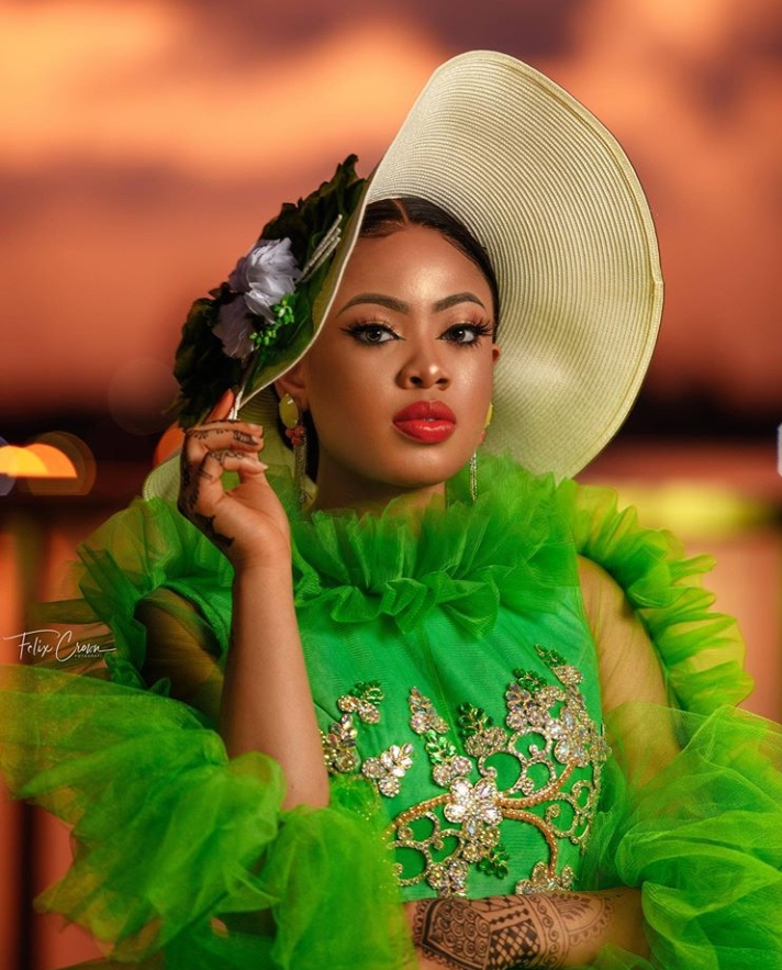 Ex-BBNaija housemate, Nina Ivy stuns in new photos as husband gifts her money cake in dollars on her 25th birthday