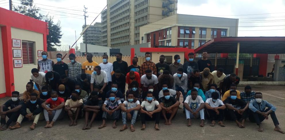 EFCC apprehends 52 alleged internet fraudsters in Benin