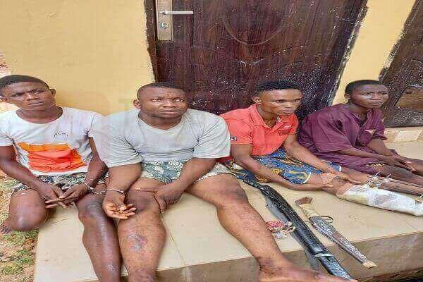 How police arrested four-man robbery gang terrorizing Edo communities-TopNaija.ng