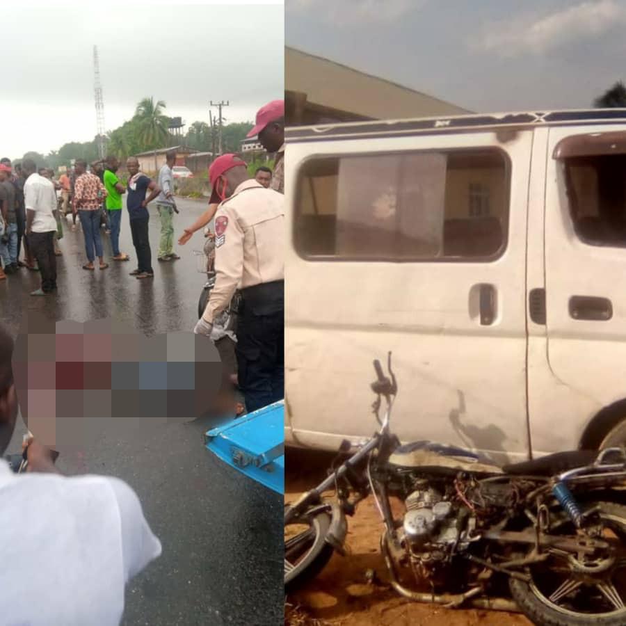 Tears as motorcyclist killed while driving against traffic in Anambra [PHOTOS]-TopNaija.ng
