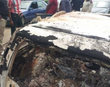 Unknown gunmen kill two policemen and burn five police vehicles in Akwa Ibom [PHOTOS]-TopNaija.ng