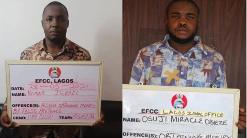 EFCC apprehends two for alleged N768.5m fraud in Lagos