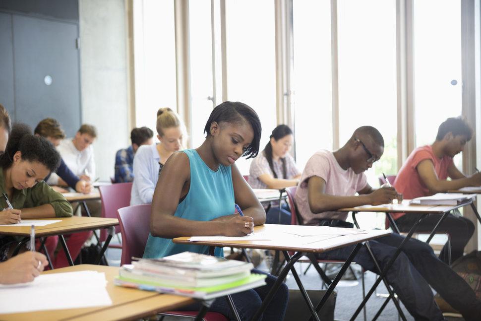 Exam success online black african