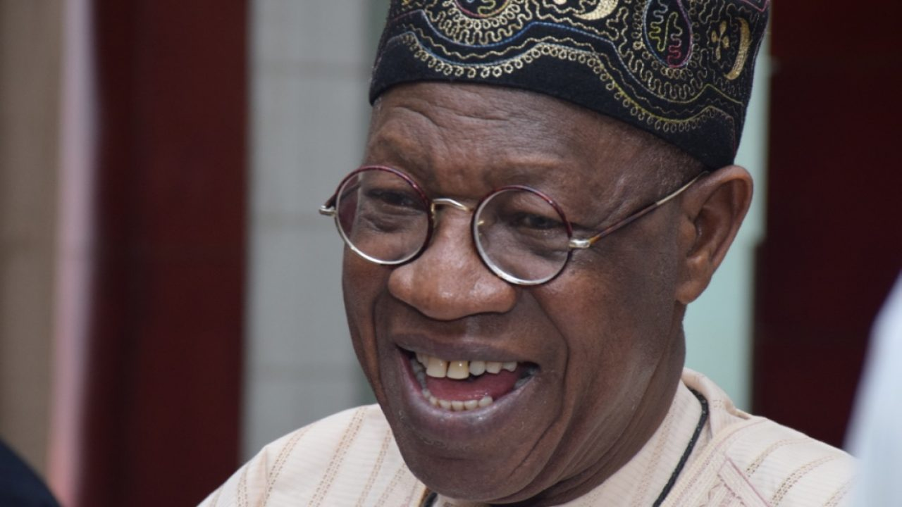 Lai Mohammed laughing