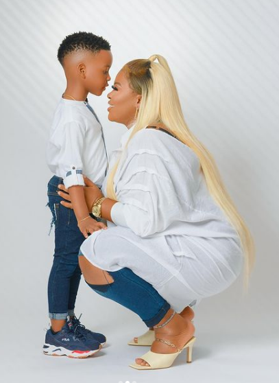 I adore you with all of me – Actress, Bimbo Thomas celebrates her only child, Jayden as he clocks 5