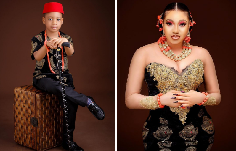 'My Drama King' - Actress, Queeneth Hilbert gushes over son as he turns 5 today